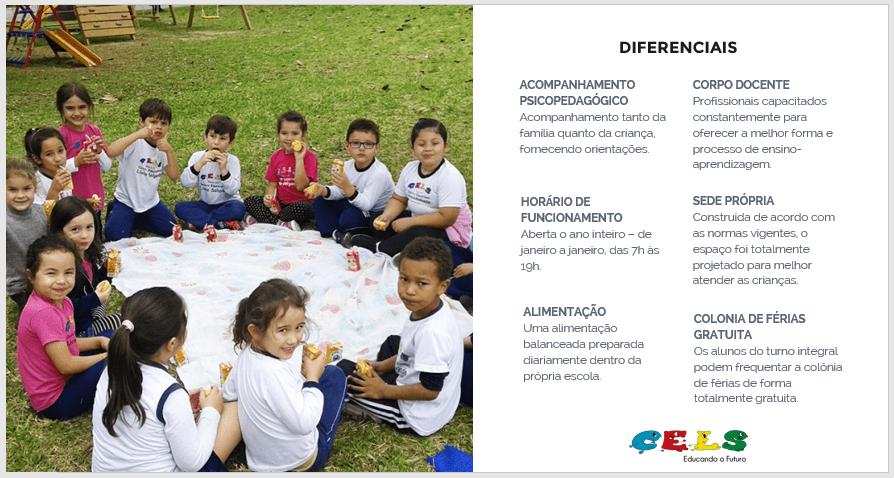 Diferenciais da escola de educação infantil CELS em Palhoça