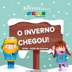 O inverno também chegou na escola CELS em Palhoça