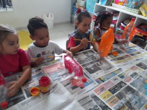 CELS incentiva crianças a ter autonomia na execução das atividades